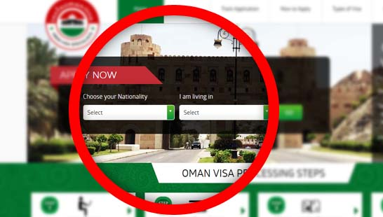Apply Oman visa application