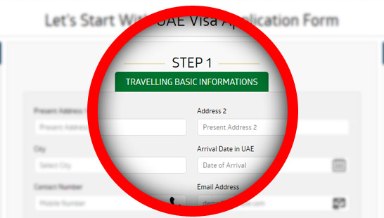 Complete your Oman visa application form